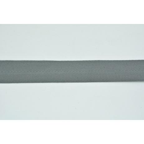 Tasiemka bawełniana jodełka szara 25mm