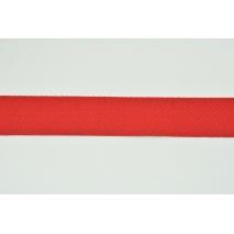 Cotton ribbon herringbone red 25mm