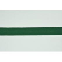 Tasiemka bawełniana jodełka ciemna zieleń 25mm