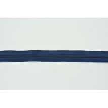 Zipper tape 3mm navy