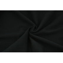 Double gauze 100% cotton plain black 2