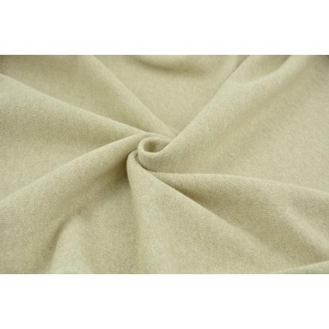 Jersey with lurex, beige