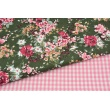 Cotton 100% double-sided pink vichy check