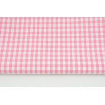 Bawełna 100% kratka vichy, dwustronna różowa 0,5cm