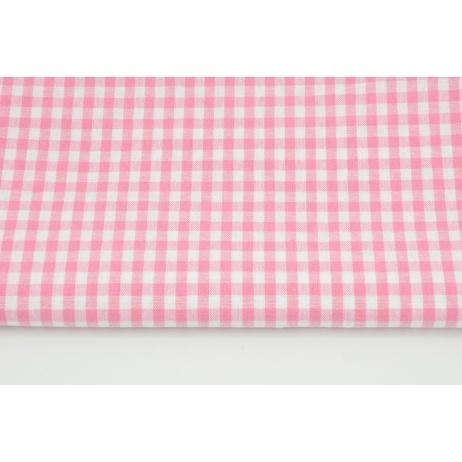 Bawełna 100% kratka vichy, dwustronna, różowa 0,5cm