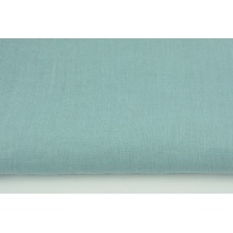 100% plain linen in a subdued sea turquoise color 155g/m2