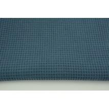 Bawełna 100%, wafel, gofr przygaszony ciemny niebieski 200g/m2