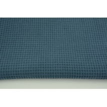 Cotton 100%, waffle fabric, plain subdued dark blue 200g/m2