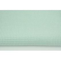 Cotton 100%, waffle fabric, plain powder mint 200g/m2