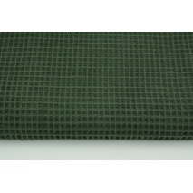 Cotton 100%, waffle fabric, plain bottle green color