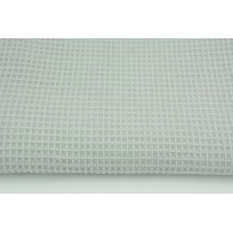 Cotton 100%, waffle fabric, plain light gray 200g/m2