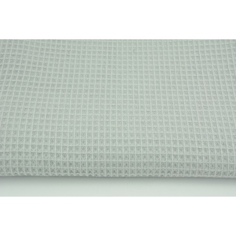 Cotton 100%, waffle fabric, plain light gray 200g/m2