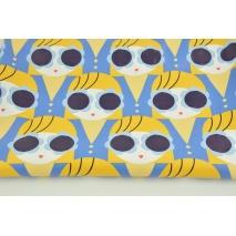 Tkanina przeciwdeszczowa, buźki niebiesko-żółte