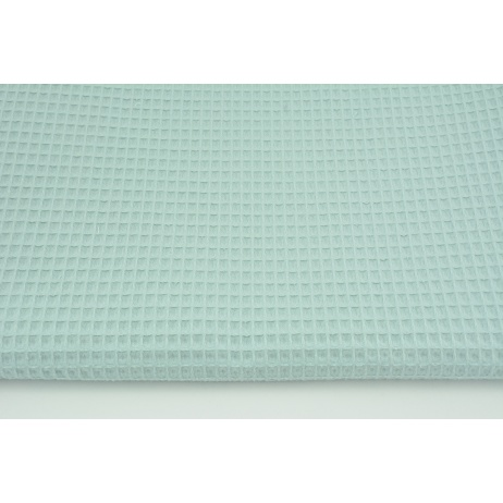 Cotton 100% waffle, gray-mint CZ 160 cm