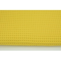 Cotton 100% waffle, curry CZ 160 cm
