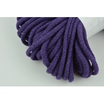 Sznurek bawełniany 6mm ciemny fiolet (miękki)