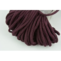 Cotton Cord 6mm dark plum (soft)