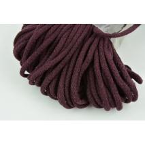 Sznurek bawełniany 6mm ciemna śliwka (miękki)