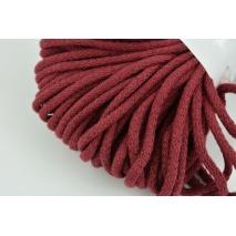 Sznurek bawełniany 6mm bordowy (miękki)