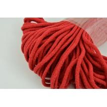 Sznurek bawełniany 6mm czerwony (miękki)
