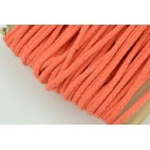 Sznurek bawełniany 6mm ciemny pomarańcz (miękki)