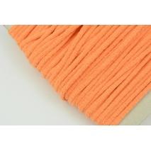 Sznurek bawełniany 6mm pomarańczowy (miękki)