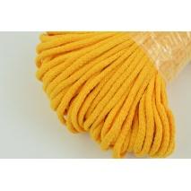 Sznurek bawełniany 6mm żółto-pomarańczowy (miękki)