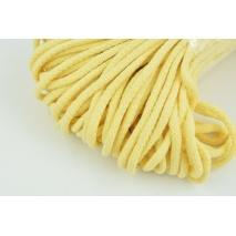 Sznurek bawełniany 6mm jasny żółty (miękki)