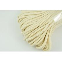 Sznurek bawełniany 6mm kremowy (miękki)