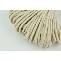 Cotton Cord 6mm light beige (soft)
