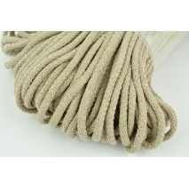 Cotton Cord 6mm beige, (soft)