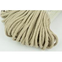 Sznurek bawełniany 6mm beżowy (miękki)