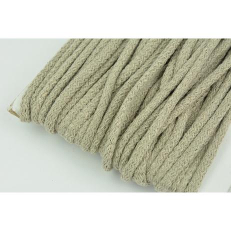 Sznurek bawełniany 6mm chłodny beż (miękki)