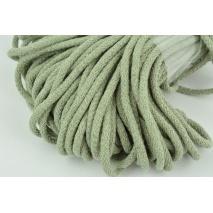 Sznurek bawełniany 6mm zielono - szary (miękki)