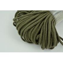 Sznurek bawełniany 6mm khaki, (miękki)