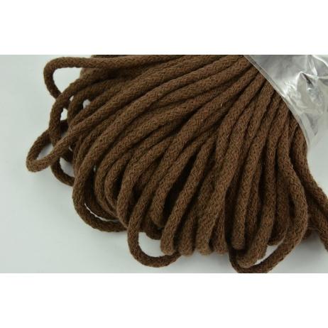 Sznurek bawełniany 6mm brązowy (miękki)