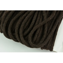 Cotton Cord 6mm dark brown (soft)