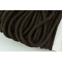Sznurek bawełniany 6mm ciemny brąz (miękki)