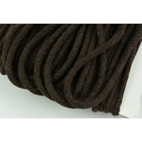 Cotton Cord 6mm dark brown (soft)