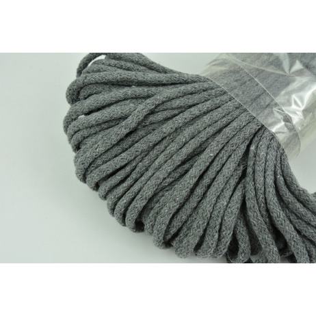 Cotton Cord 6mm dark gray (soft)