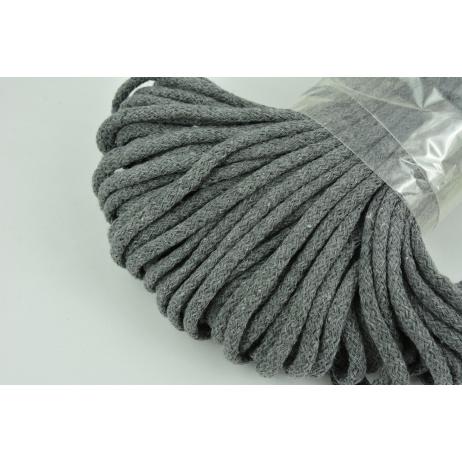 Sznurek bawełniany 6mm ciemny szary (miękki)