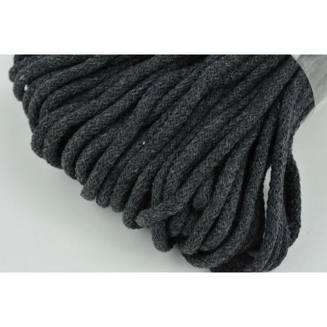 Sznurek bawełniany 6mm grafit (miękki)