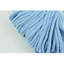 Sznurek bawełniany 6mm błękitny (miękki)