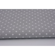 Cotton 100% dots 4mm on a gray background