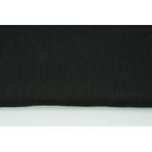 100% len czarny, zmiękczany 145g/m2