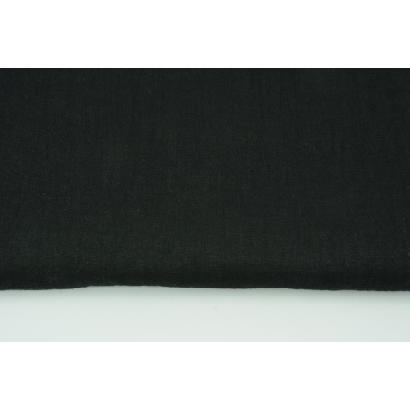 100% plain linen in a black color, softened