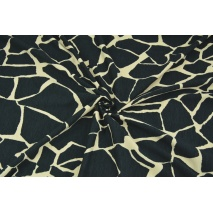 Knitwear, viscose with elastane, giraffe black-beige