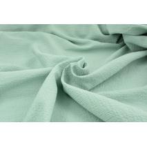 Bawełna 100%, tkanina z fakturą, pudrowa mięta 155/m2