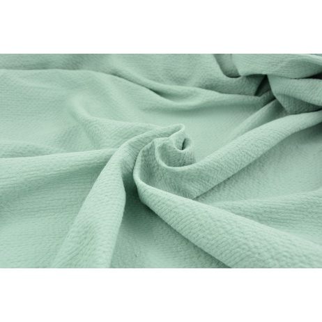 Cotton 100%, fabric with texture, powder mint 155/m2