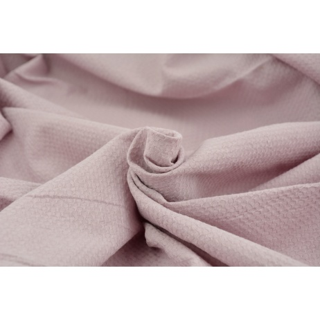Cotton 100%, fabric with texture, dirty heather 155/m2